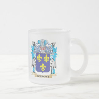 Burrows Coat of Arms 10 Oz Frosted Glass Coffee Mug