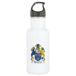 Burrows Family Crest Stainless Steel Water Bottle