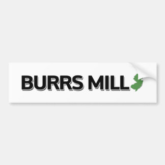 Burrs Mill, New Jersey Bumper Sticker