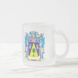 Burs Coat of Arms 10 Oz Frosted Glass Coffee Mug