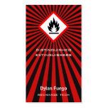 Burst Into Flames (flammable) Business Card Templates