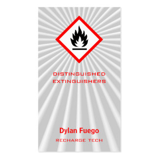 Burst Into Flames (flammable) Business Card Template