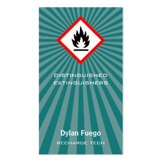 Burst Into Flames (flammable) Business Cards
