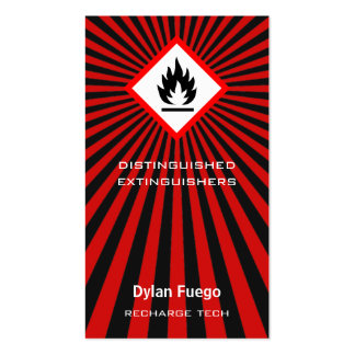 Burst Into Flames (flammable) Double-Sided Standard Business Cards (Pack Of 100)