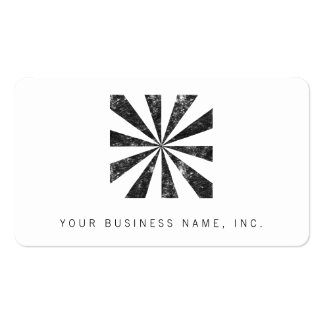 Burst (Letterpress Style Background) Double-Sided Standard Business Cards (Pack Of 100)