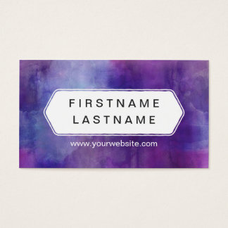 Burst of Color Purple Water Color Business Card