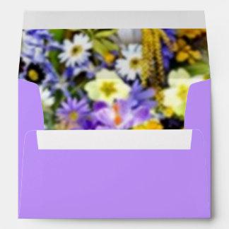 Burst of Color Spring Floral Collage Envelope