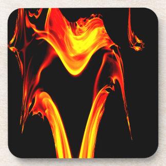 Burst of Fire Fractal Design Drink Coaster