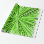 [ Thumbnail: Burst of Green Lines Pattern Wrapping Paper ]