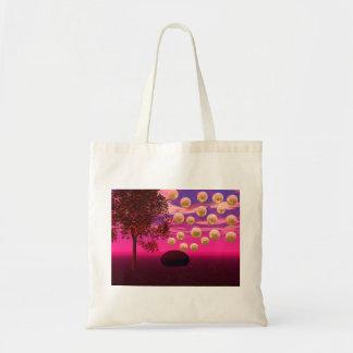 Burst of Joy – Abstract Magenta & Gold Inspiration Budget Tote Bag
