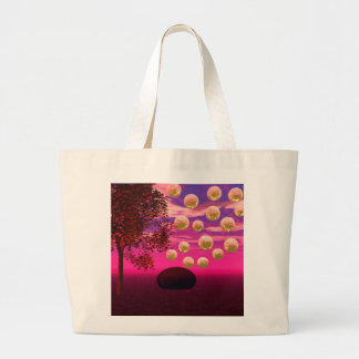 Burst of Joy – Abstract Magenta & Gold Inspiration Canvas Bags