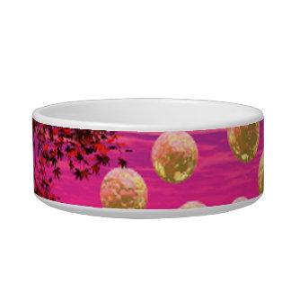 Burst of Joy – Abstract Magenta & Gold Inspiration Bowl