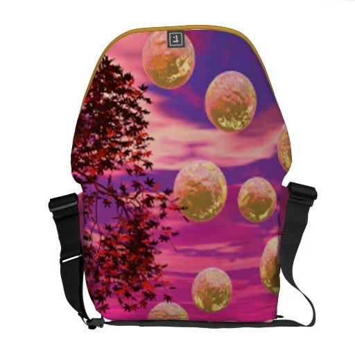 Burst of Joy – Abstract Magenta & Gold Inspiration Courier Bag