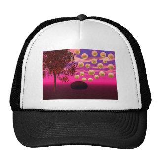 Burst of Joy – Abstract Magenta & Gold Inspiration Hats