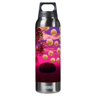 Burst of Joy – Abstract Magenta & Gold Inspiration Insulated Water Bottle