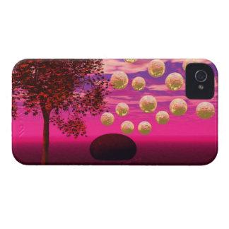 Burst of Joy – Abstract Magenta & Gold Inspiration iPhone 4 Case
