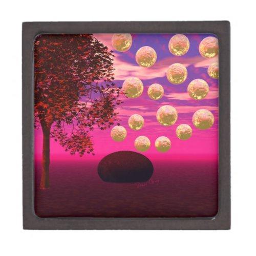 Burst of Joy – Abstract Magenta &amp&#x3B; Gold Inspiration Keepsake Box