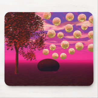 Burst of Joy – Abstract Magenta & Gold Inspiration Mouse Pad