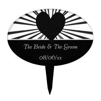 Burst Of Love (Black2) (Wedding) Cake Topper