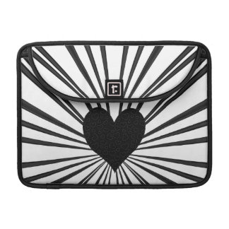 Burst Of Love (Black) MacBook Pro Sleeve