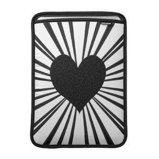 Burst Of Love (Black) Sleeve For MacBook Air