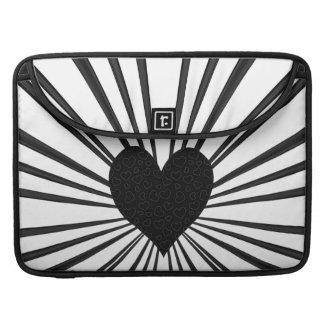 Burst Of Love (Black) Sleeve For MacBooks