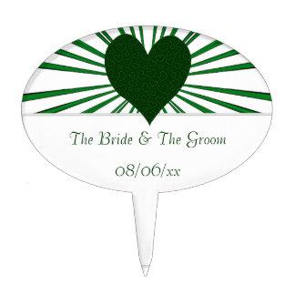 Burst Of Love (Green) Cake Topper
