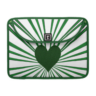 Burst Of Love (Green) Sleeve For MacBooks