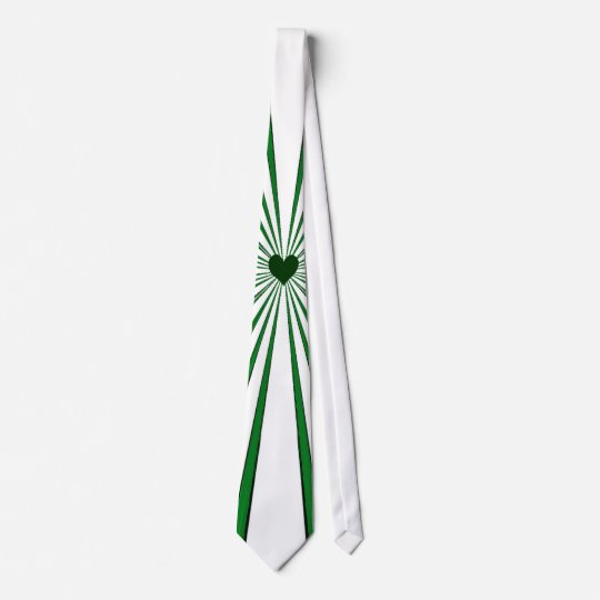 Burst Of Love (Green) Tie