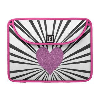Burst Of Love (Pink on Black) Sleeve For MacBook Pro