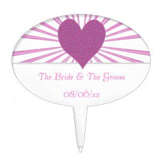 Burst Of Love (Pink) (Wedding) Cake Topper