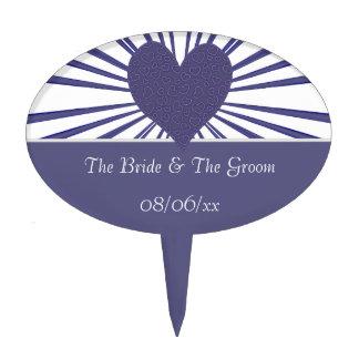 Burst Of Love (Purple2) (Wedding) Cake Topper