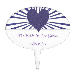 Burst Of Love (Purple) (Wedding) Cake Topper