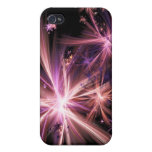 Burst of Pink Abstract Fractal Art Cases For iPhone 4