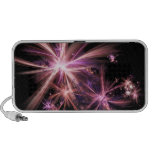 Burst of Pink Abstract Fractal Art iPhone Speaker