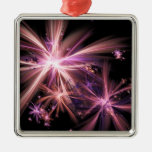 Burst of Pink Abstract Fractal Art Christmas Ornament