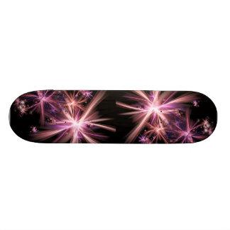 Burst of Pink Abstract Fractal Art Skateboard