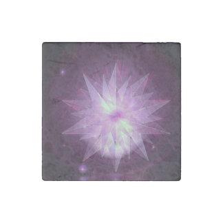 Burst of Purple Hope Stone Magnet