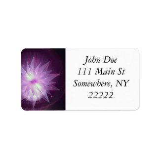 Burst of Purple Hope Label