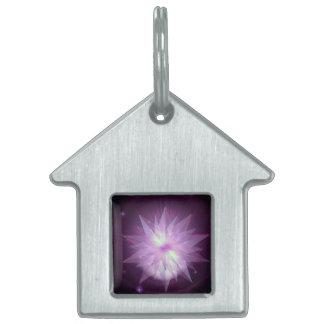 Burst of Purple Hope Pet ID Tag