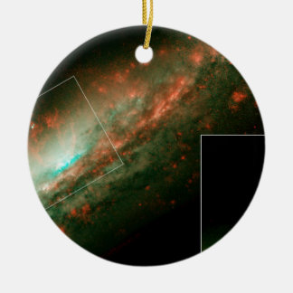 Burst of Star Formation Drives Bubble in Galaxy NG Double-Sided Ceramic Round Christmas Ornament