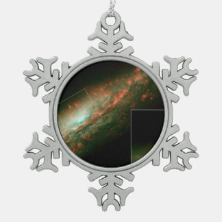 Burst of Star Formation Drives Bubble in Galaxy NG Snowflake Pewter Christmas Ornament