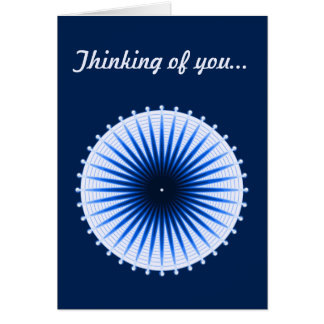Burst of the Blues Custom Greeting Card