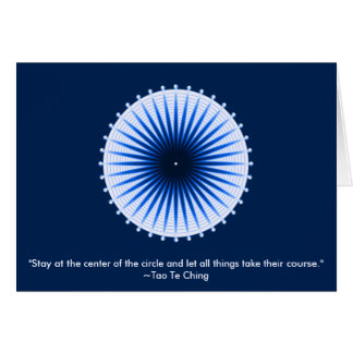 Burst of the Blues Greeting Card