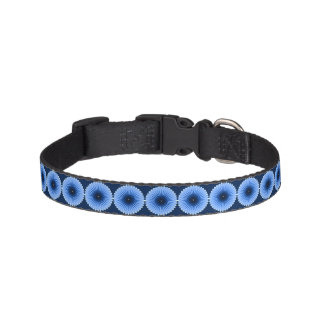 Burst of the Blues Pet Dog Collar Small