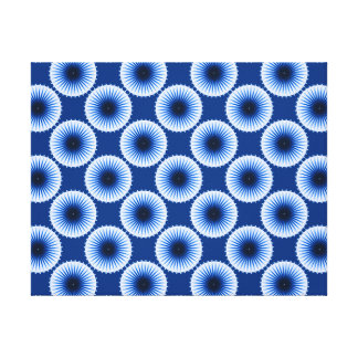 Burst of the Blues Stretched Canvas Print