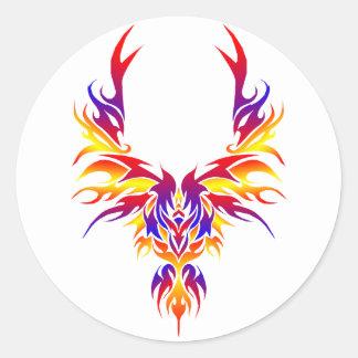 Burst Phoenix Classic Round Sticker