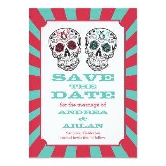 Burst Skull Wedding Save the date card 4.5x6.25