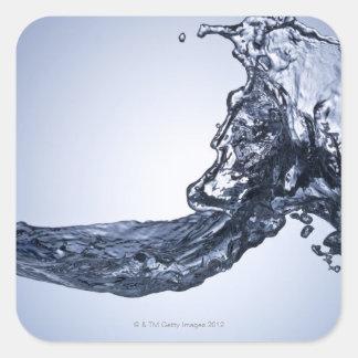 Burst wave square sticker