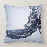 Burst wave throw pillows